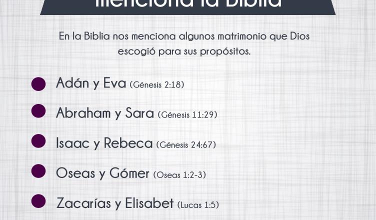 Biblia Habla Matrimonio : Matrimonios que menciona la biblia veracidad channel