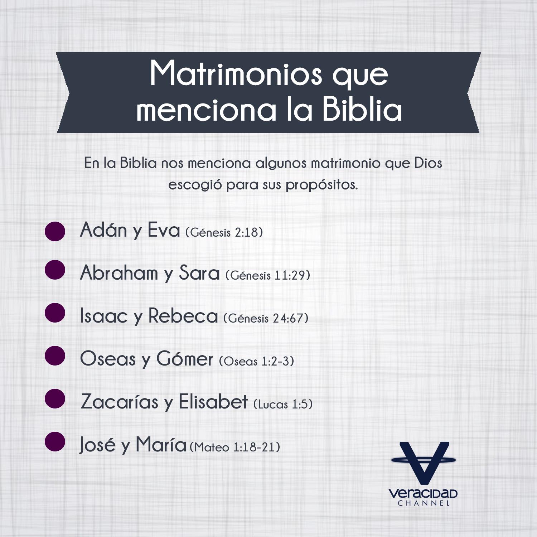 El Matrimonio La Biblia : Matrimonios que menciona la biblia veracidad channel