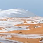 Cae nieve en el Sahara