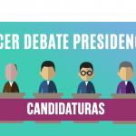 ¡Todo listo para el tercer debate presidencial!